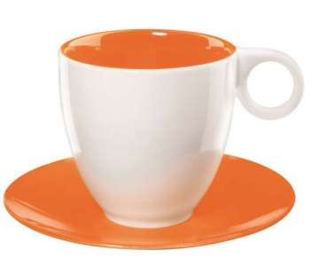 Colour it Kaffeetasse 0.2 lt. mit Unterer orange